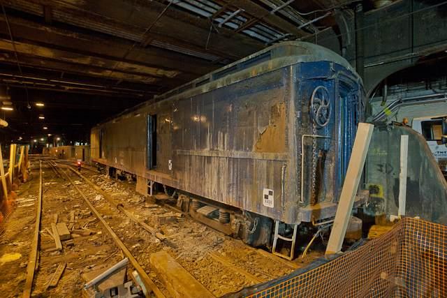 La carrozza segreta di Roosevelt all'interno del Binario 61
