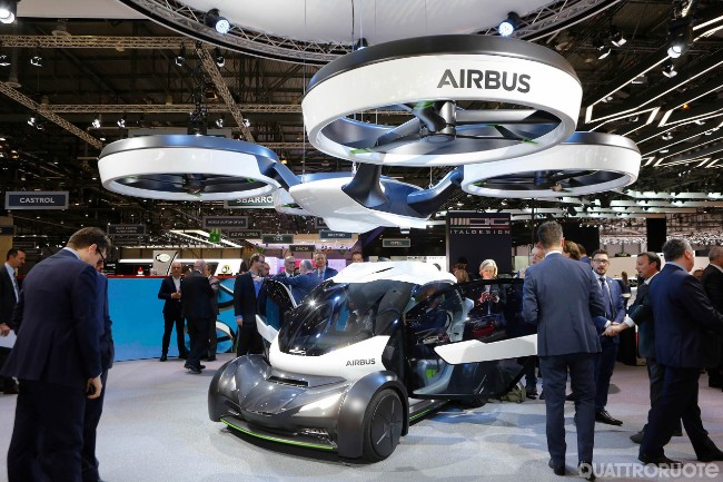 Pop.up l'auto volante airbus italdesign