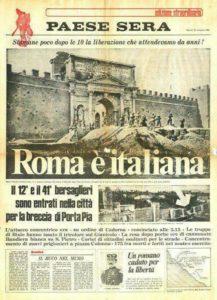 paese sera. la breccia di porta pia - la prima bufala italiana