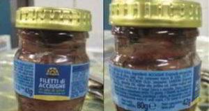 filetti di acciughe in olio di oliva con istamina
