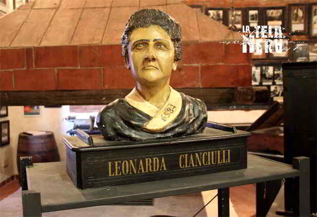 Busto di Leonarda Cianciulli presso il museo di criminologia di Roma