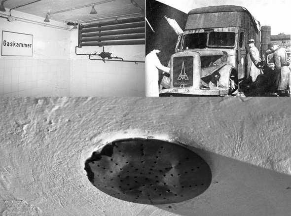 le camere a gas nei campi di concentramento nazisti