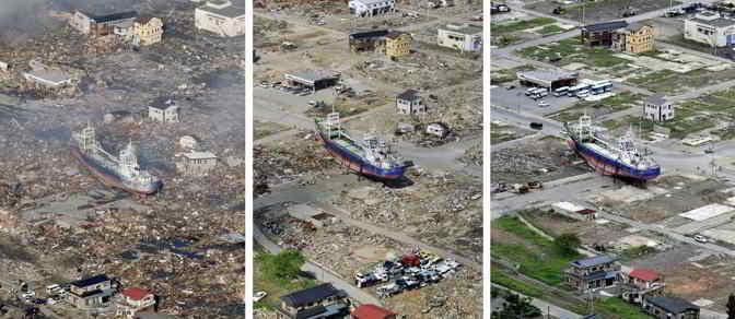 Fukushima prima e dopo il terremoto: le foto della tragedia