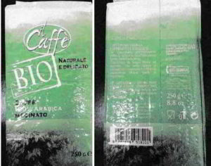 Caffe arabica biologico ritirato dal commercio per rischio chimico