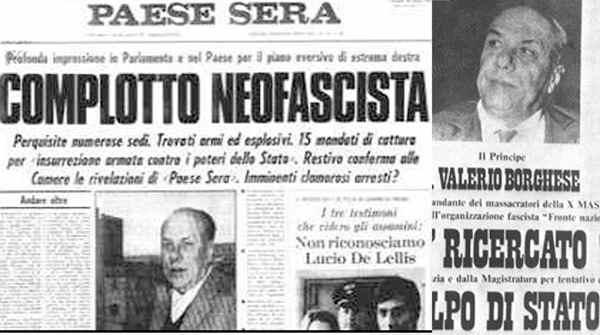 La loggia P2, Licio Gelli e il golpe Borghese