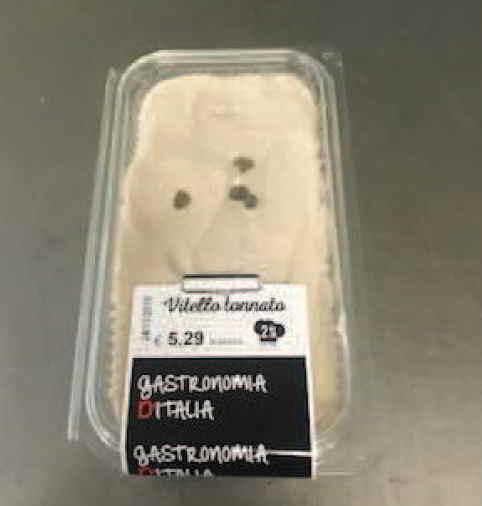 Vitello tonnato Gastronomia d'italia ritirato dal mercato per listeria