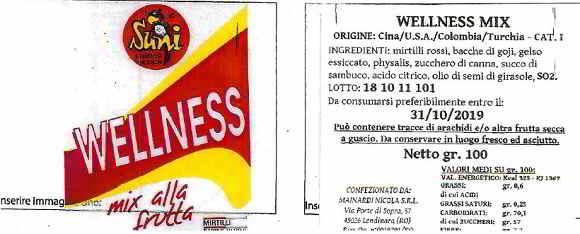wellness mix ritiro