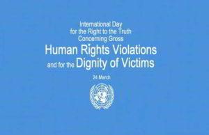 24 marzo: Giornata Internazionale per il Diritto alla Verità e alle gravi violazioni dei Diritti Umani