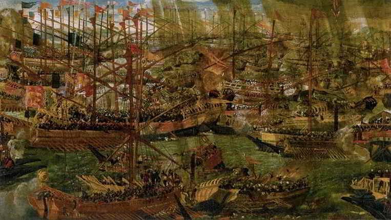 La battaglia di Lepanto: le navi cristiane contro la flotta ottomana