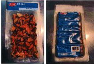 SELEX: cozze sgusciate e precotte surgelate ritirate dal commercio per salmonella spp