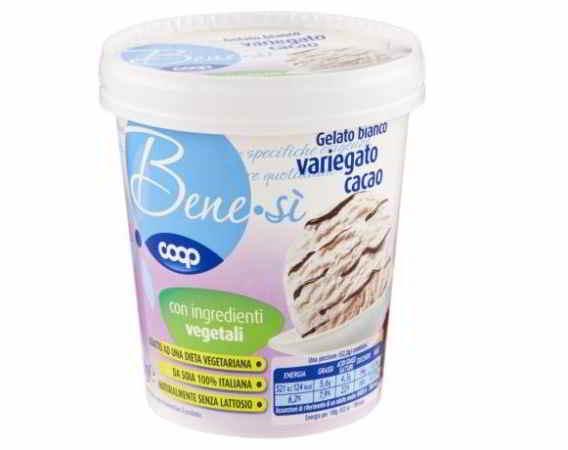 Coop: gelato variegato al cacao ritirato dal commercio: allergene non dichiarato