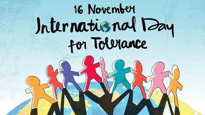 16 novembre: Giornata internazionale della tolleranza