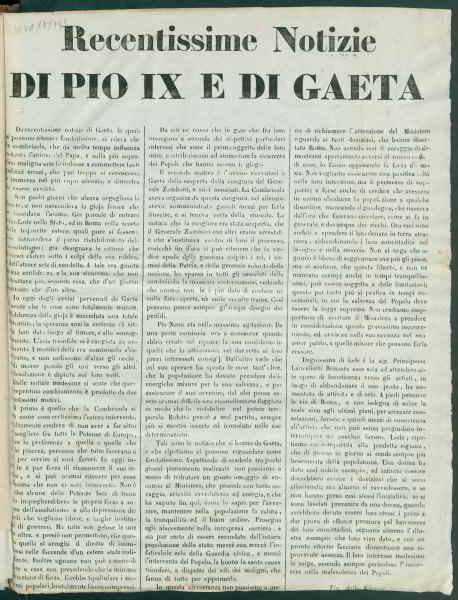 La fuga di Pio IX a Gaeta