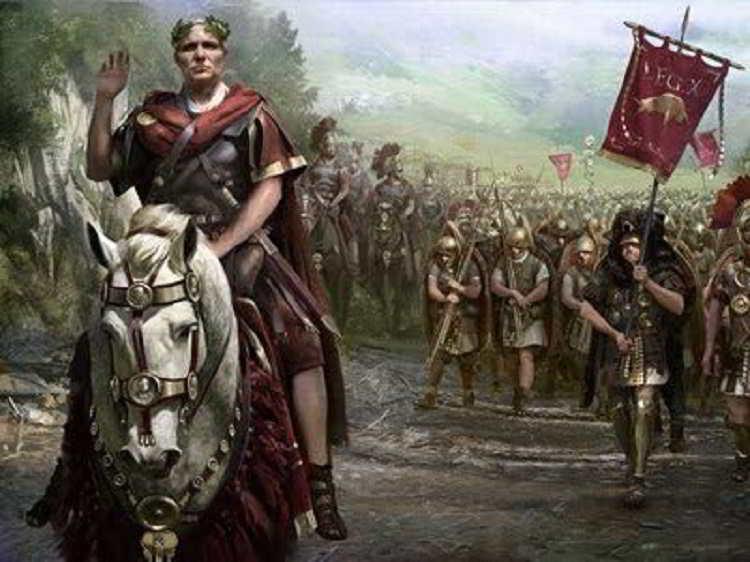 """Giulio Cesare e la presa di Roma al grido del """"il dado è tratto"""""""
