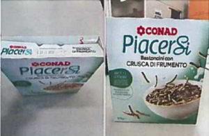 Conad: bastoncini con crusca di frumento ritirati dal commercio: presenza di micotossine