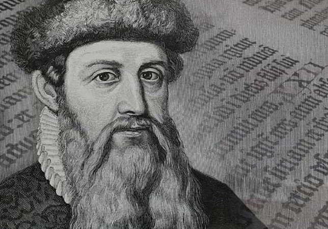 Gutenberg e l'invenzione della stampa a caratteri mobili