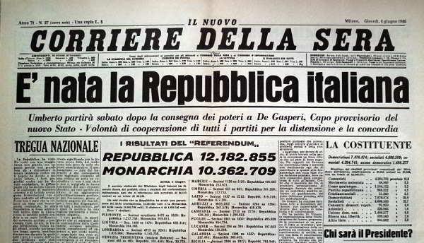 almanacco del mese di giugno - 2 giugno italia diventa repubblica