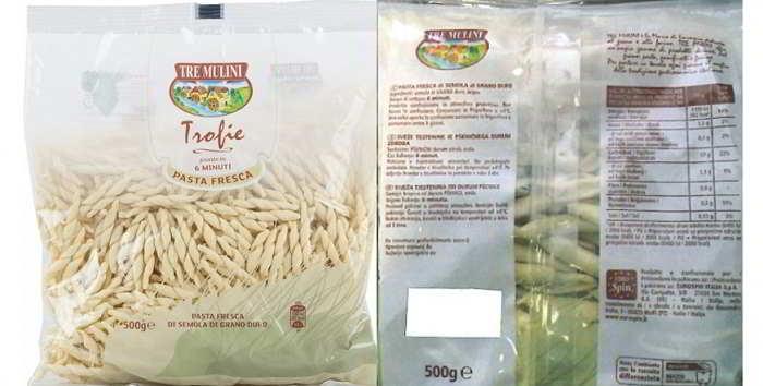 Eurospin richiama pasta fresca per allergene non dichiarato