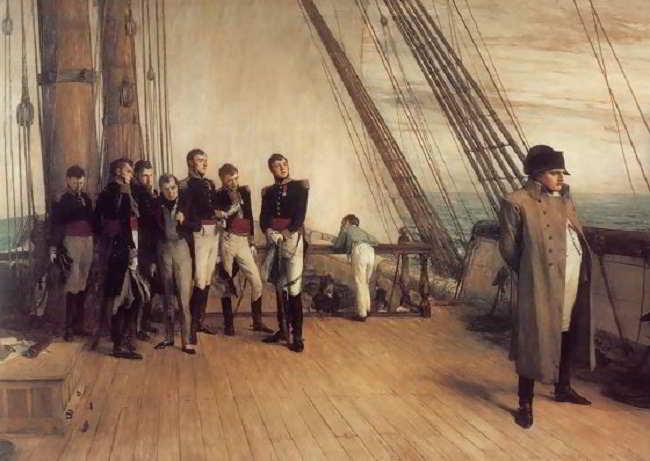 Napoleone Bonaparte verso Sant'Elena