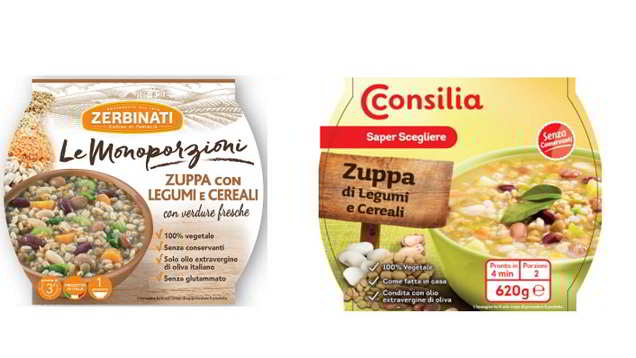 zuppa di legume ritirata dal commercio