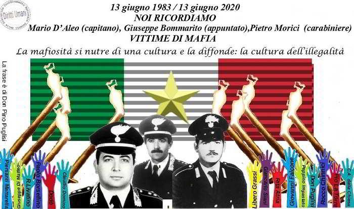 13 giugno 1983: la mafia uccide i carabinieri Mario Daleo, Giuseppe Bommarito, Pietro Morici – CNDDU: coltivare la cultura della legalità
