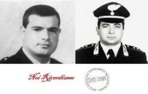 In ricordo del poliziotto Gaetano Cappiello e del carabiniere Emanuele Basile, uccisi dalle mafie