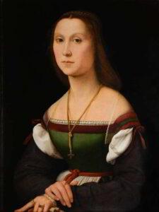 """""""La Muta"""" di Raffaello: forse Giovanna da Montefeltro?"""